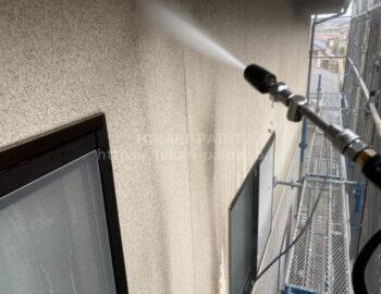 2階外壁 高圧洗浄