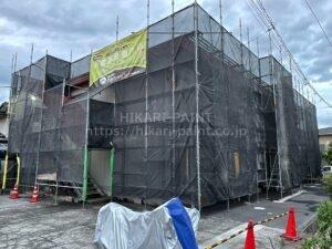 岡山市北区M様管理アパート 塗装工事始まりました😄