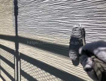 外壁 中塗り(ベランダ部)