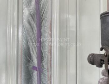 玄関ドア 下塗り 上塗り